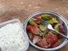solata z avokadom, paradižnikom in južnoafriškim olivnim oljem