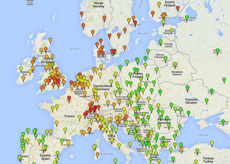 Cene potovanj po Evropi