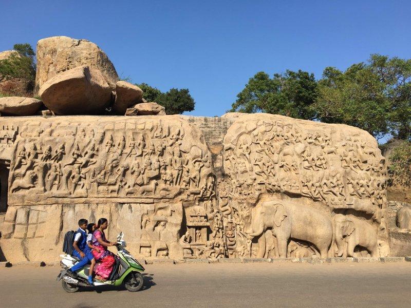 Arjunova pokora, Mahabalipuram
