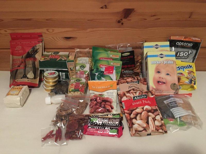 zaloga hrane za osemdnevni pohod čez Velebit