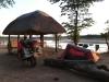 kampiranje v rezervatu ob reki Luangwa, Zambija