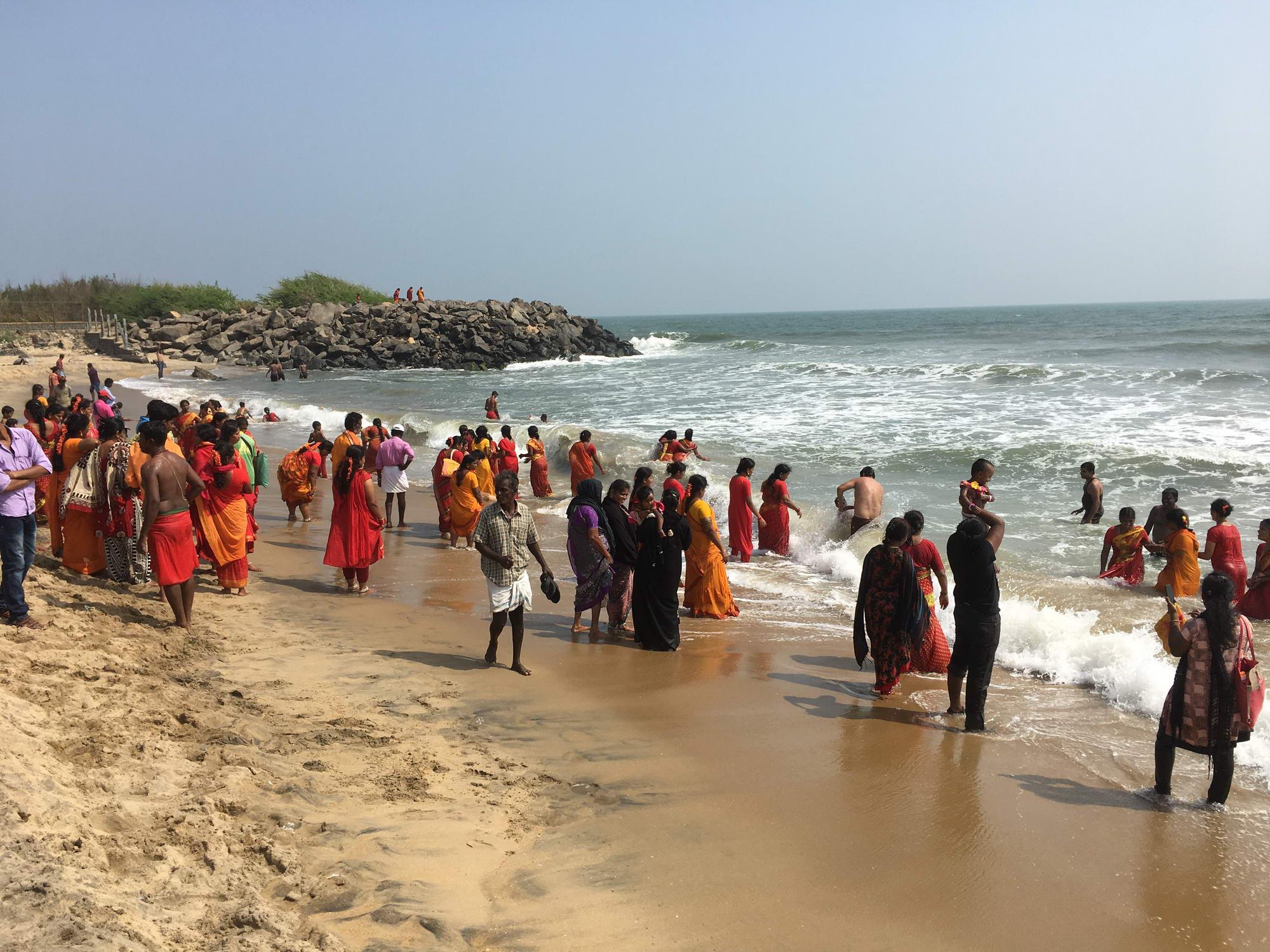 Kopanje v indijsko, Mahabalipuram