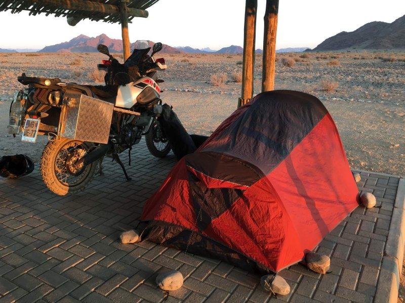 kampiranje v Namibiji